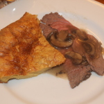 Gluten Free Yorkshire Pudding with Roast Beef