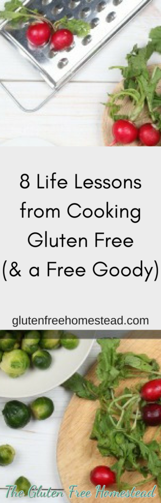 Lessons learned when changing your way of cooking to adjust for food allergies or a medical condition | Positive inspiration | gluten free cooking