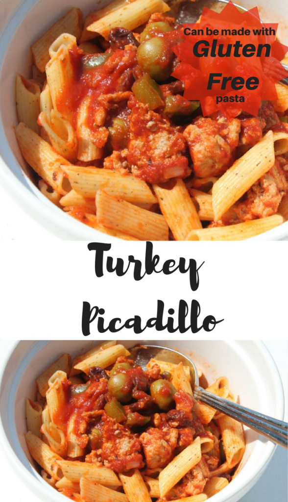 The best turkey picadillo!   Lighter than traditional beef or pork recipes   Quick easy recipe   Can be made with gluten free pasta  