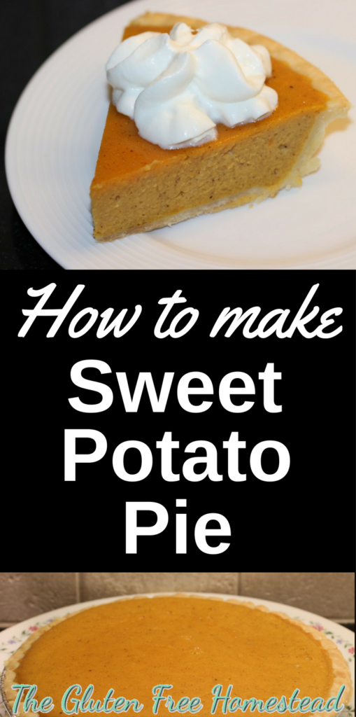 Easy Southern recipe | Classic sweet potato pie |  Thanksgiving favorite |  gluten free recipe |