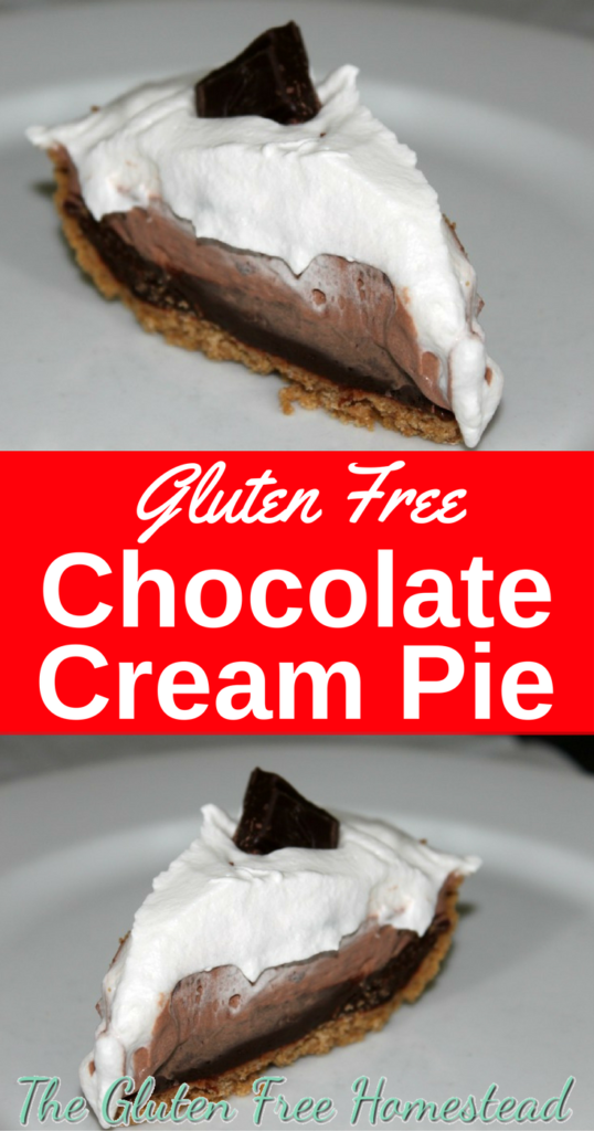 Easy Gluten Free Chocolate Cream Pie | Review of MI-DEL's Graham Style Pie Crust | Homemade pie with pudding | No bake pie | This just may be your favorite holiday dessert