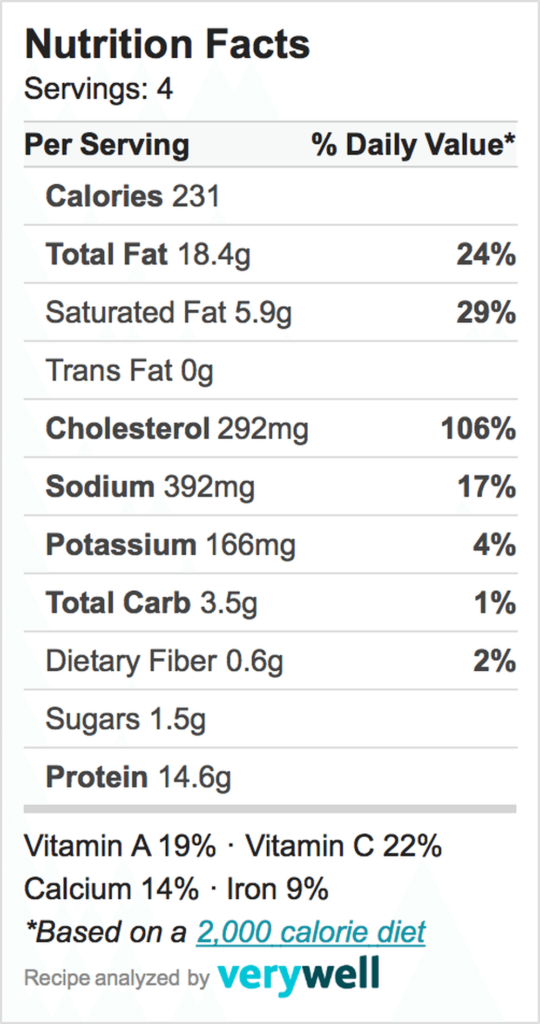 Nutrition-Label-broccoli frittata
