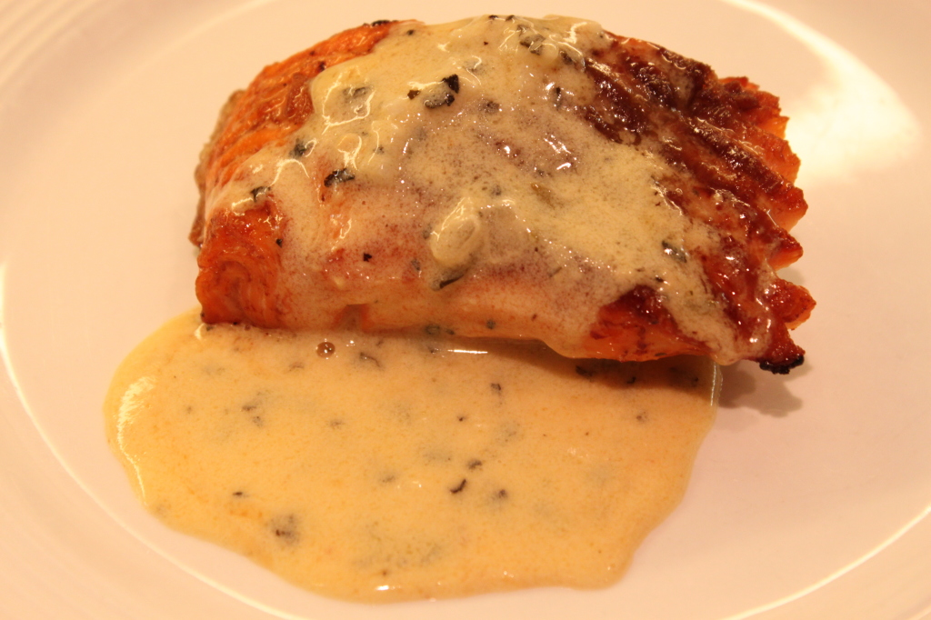 Salmon with Gluten Free Dijon Sauce