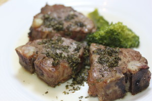 Broiled Lamb Chops with Gluten Free Mint Sauce