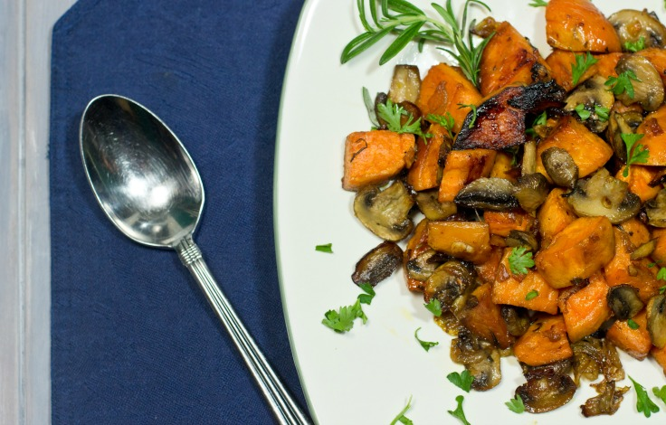 Rosemary Sweet Potatoes and Mushrooms