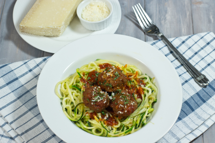 Zoodles zucchini noodles and gluten free meatballs for Zucchini noodles and meatballs recipe