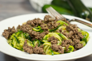 Skillet Beef And Zoodles (Zucchini Noodles)