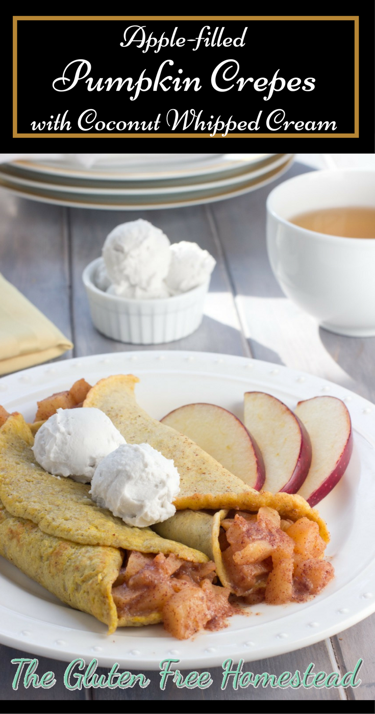 Best gluten free breakfast crepes   Apple cinnamon filling   how to tips to make coconut whipped cream   Healthy   Low carb   Gluten Free Recipe   Delicious as a dessert too  