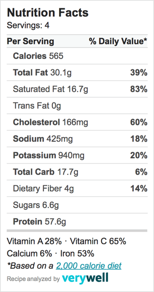 Nutrition-Label-beef stroganoff