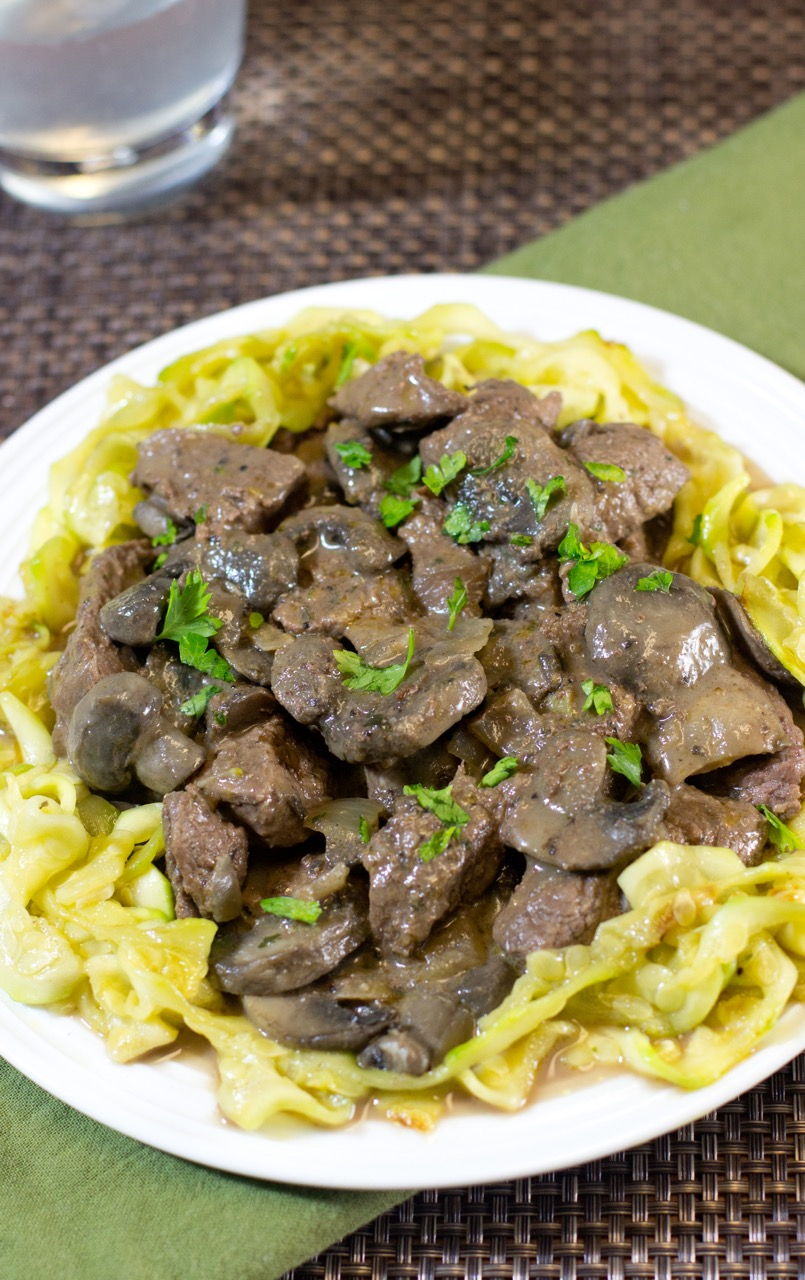 Beef Stroganoff with Zoodles