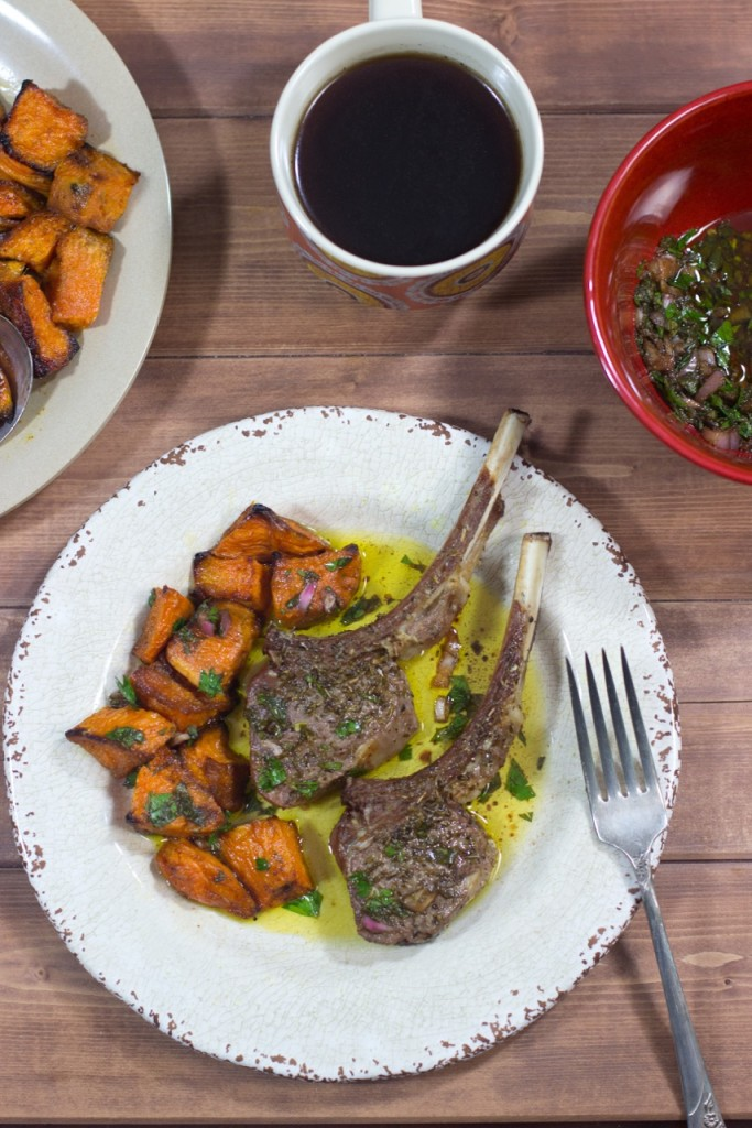 Broiled Lamb Chops with Chermoula Sauce