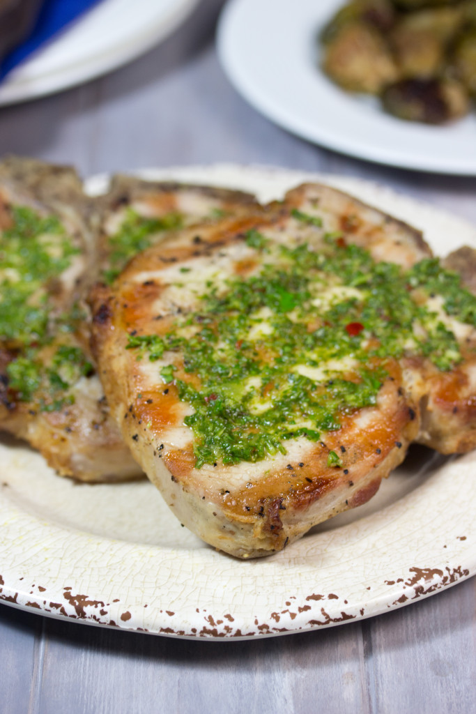 pork chop, chimichurri sauce , My Secret For Juicy Grilled Pork Chops ...