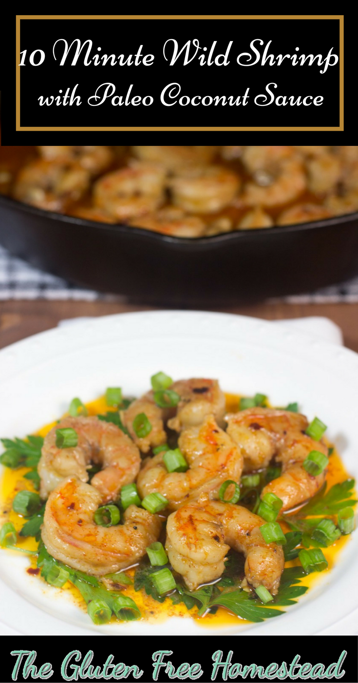 Easy Wild Shrimp Recipe | Healthy shrimp dinner | gluten free recipe | paleo recipe | Clean eating | Simple recipe | Low carb | Made with coconut oil