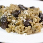 Mushroom Risotto in Chicken and White Wine Broth