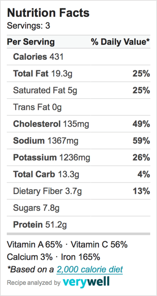 Nutrition-Label-beef ragout revised
