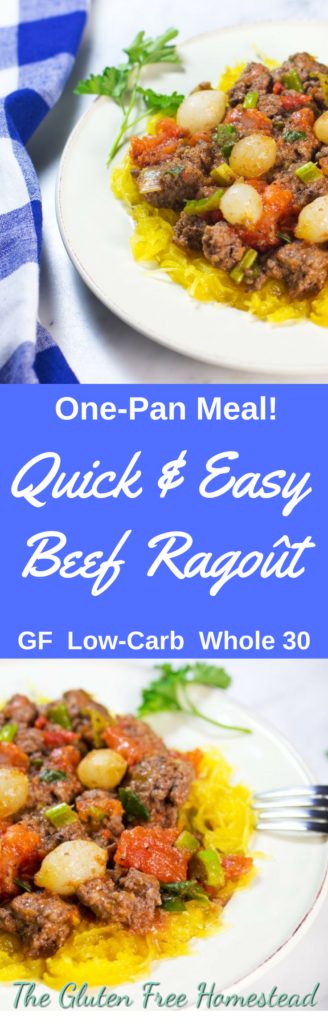 Easy dinner | French Ragout | One-Pan meal for easy clean up | gluten free recipe | paleo recipe | ground beef meal | Low Carb recipe | Whole 30 recipe