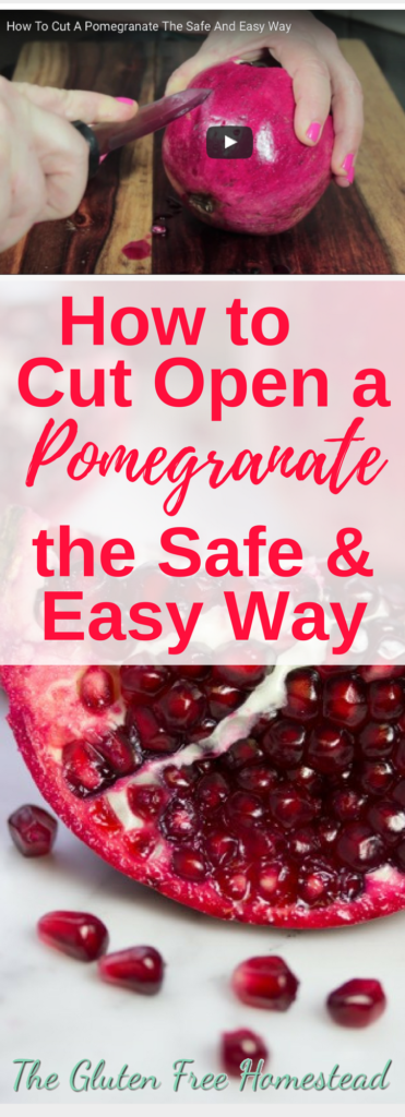 This method makes it so easy to open and get to the seeds with very little mess. The seeds just easily roll right out. And pomegranates are so good for you.