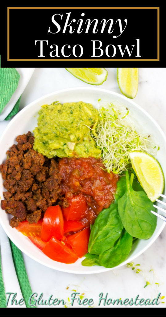 Healthy Low Carb Taco Bowl |Homemade Ingredients | Ground Beef Taco Bowl | Easy guacamole recipe | Gluten Free Recipe | Paleo Recipe | Whole 30 | Keto