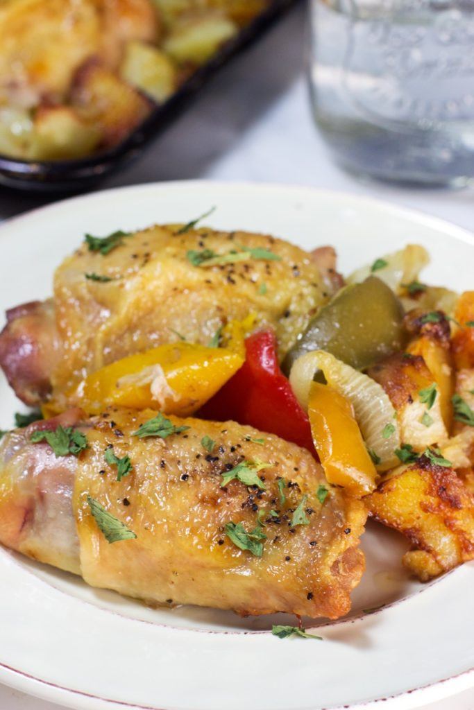 One-Pan Chicken And Pappers