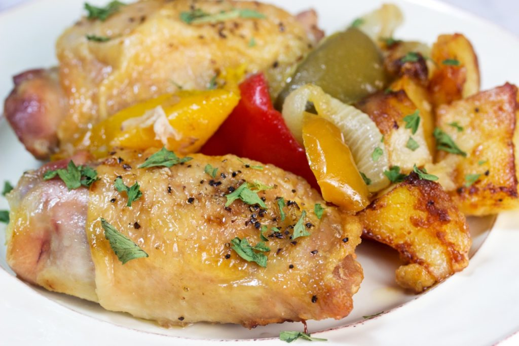 One-Pan Chicken and Peppers