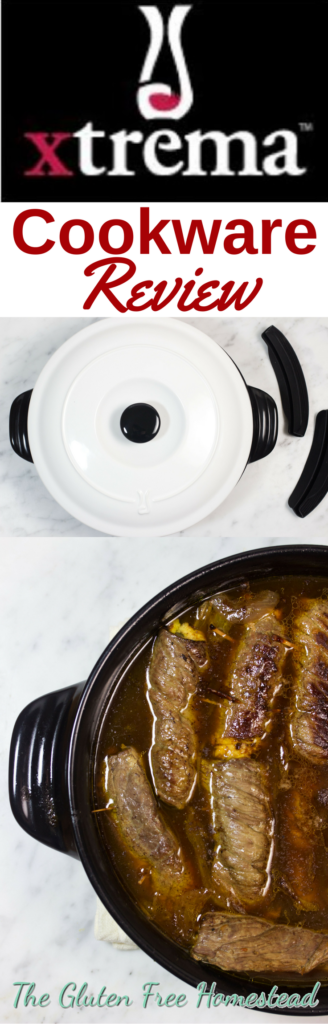 Click on the pin to get my Xtrema Braiser review and recipe idea | Braised Steak Roll ups | Healthy Braiser, Skillets, and Pots | Green natural ceramic glaze cookware | Product review | Benefits of Xtrema cookware | Healthy cooking