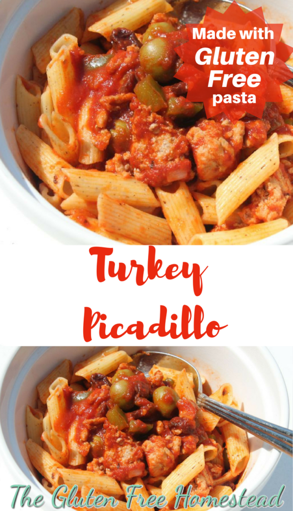 The best turkey picadillo! | Lighter than traditional beef or pork recipes | Quick easy recipe | Can be made with gluten free pasta |