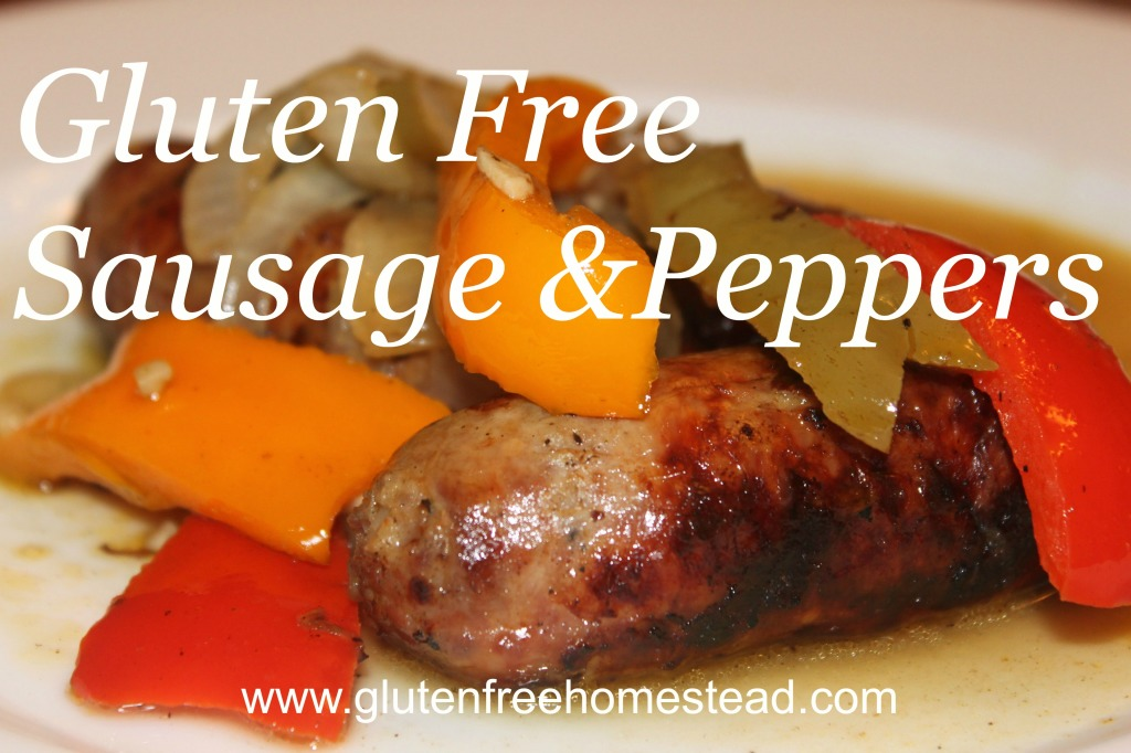 gluten free sausage & peppers
