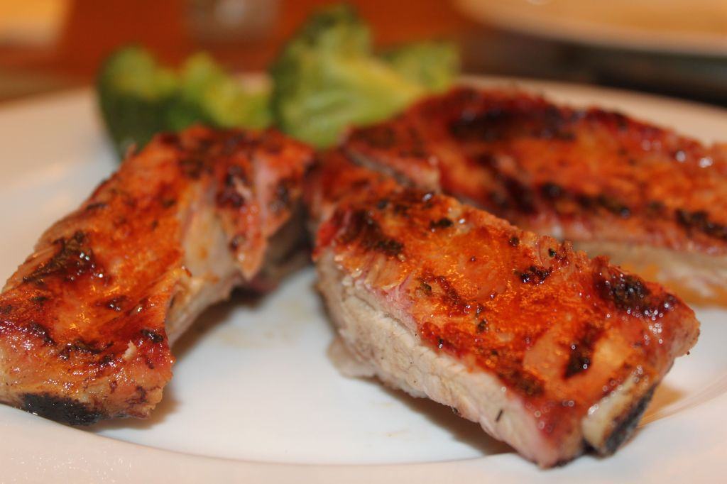 gluten free barbecued spare ribs