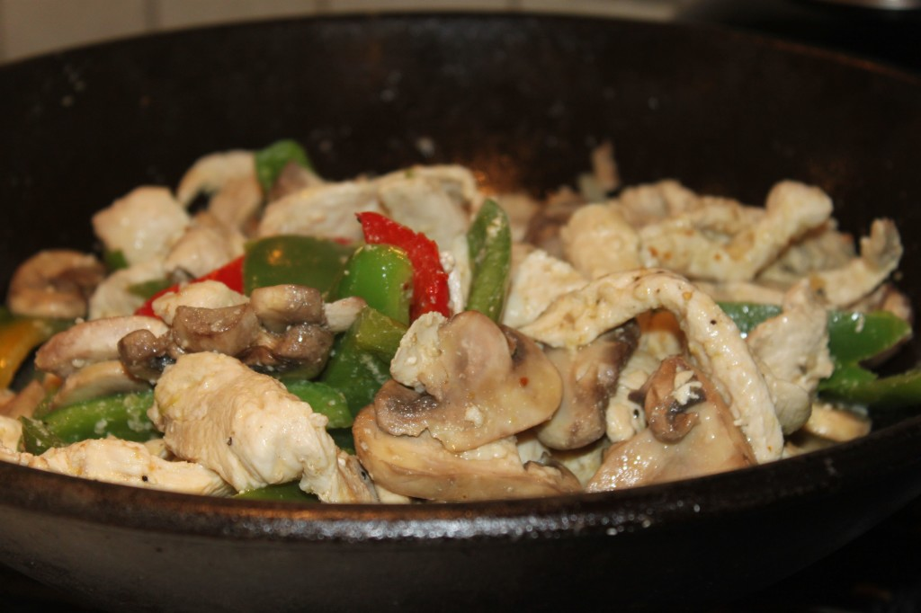 Gluten Free Quick Chicken And Peppers