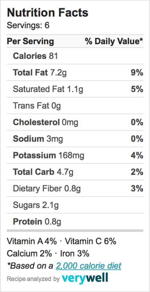 Nutrition-Label-cucumber salad