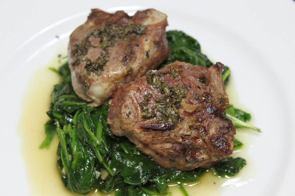 Broiled lamb chops with gluten free mint sauce for Is fish sauce gluten free