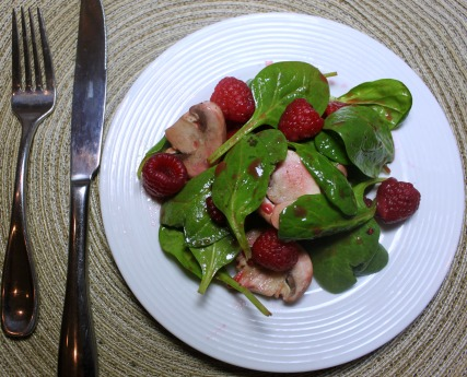 Tossed Salad with Raspberry Dressing