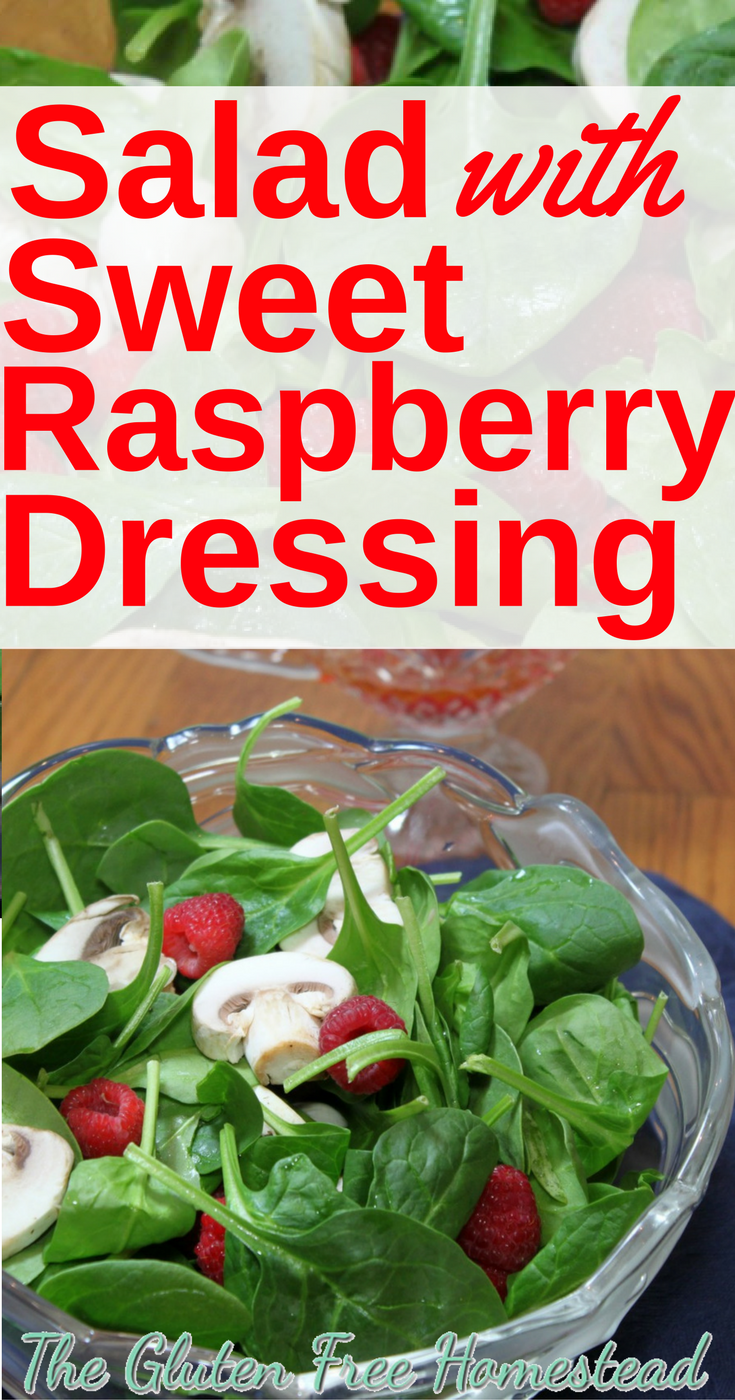 How to make homemade raspberry dressing | Delicious spinach salad | gluten-fee | paleo