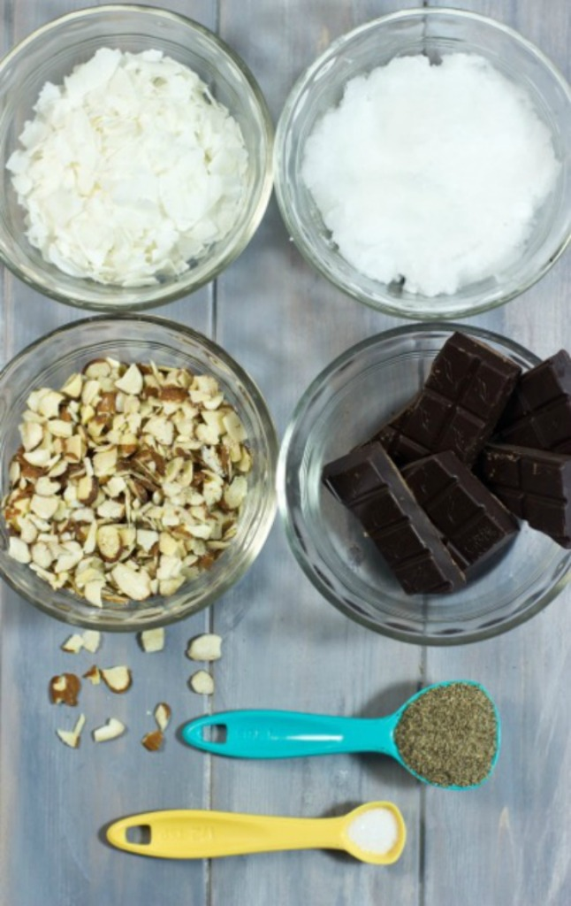 Healthy Coconut and Almond Dark Chocolate Bars