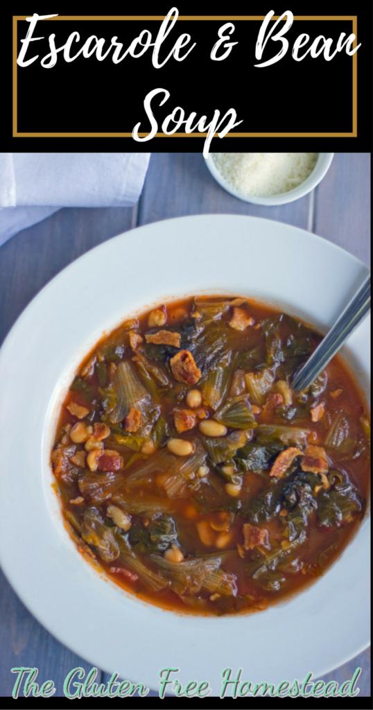 Such a healthy Italian escarole & bean soup   Simple meal   gluten free recipe