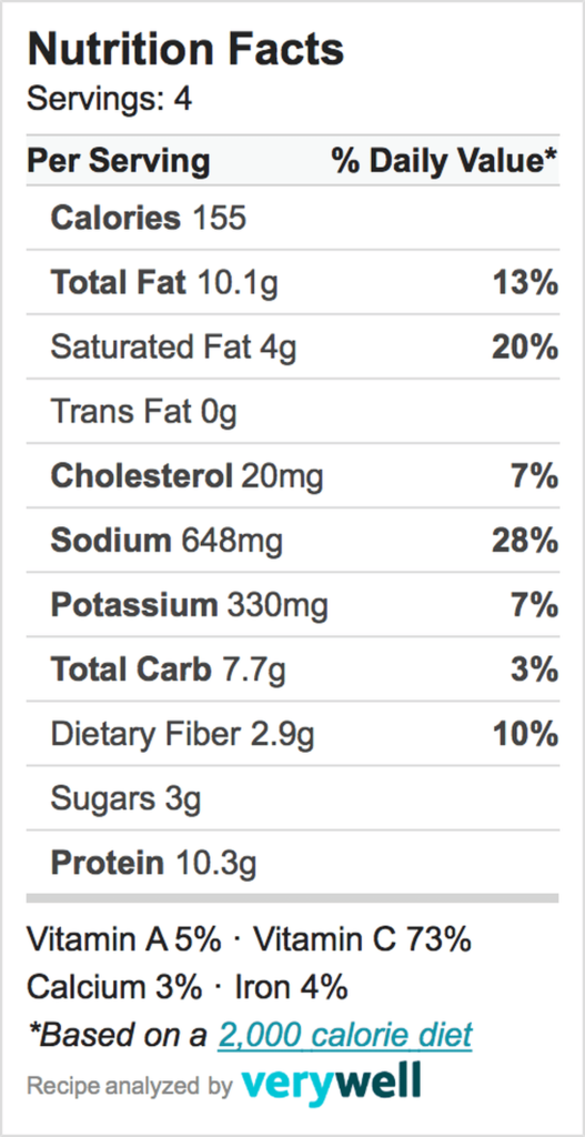 Nutrition-Label-cauliflower rice