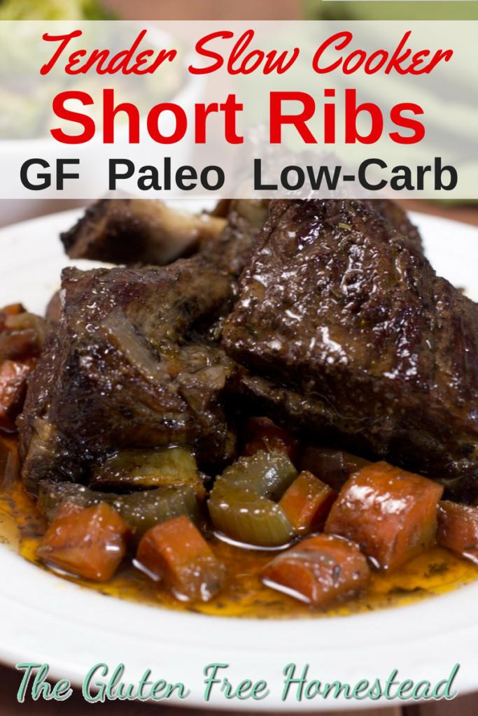 The tenderest, juiciest short ribs!   Short Ribs recipe   Slow Cooker Recipe   Gluten-Free recipe   Paleo recipe   Low-Carb