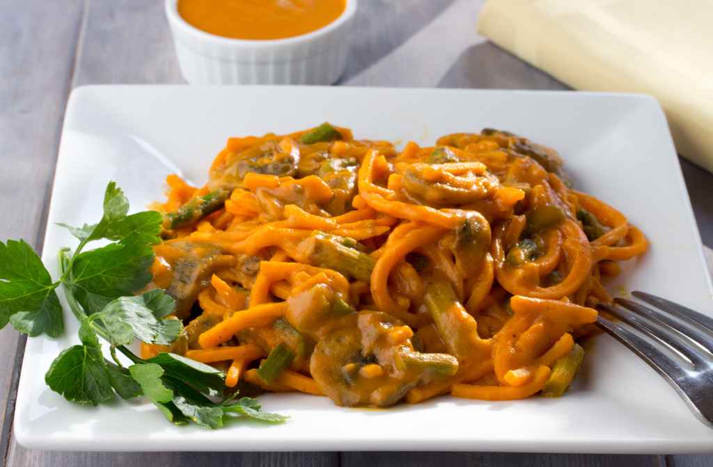 "Sweet Potato Noodles with ""Cream"" Sauce"