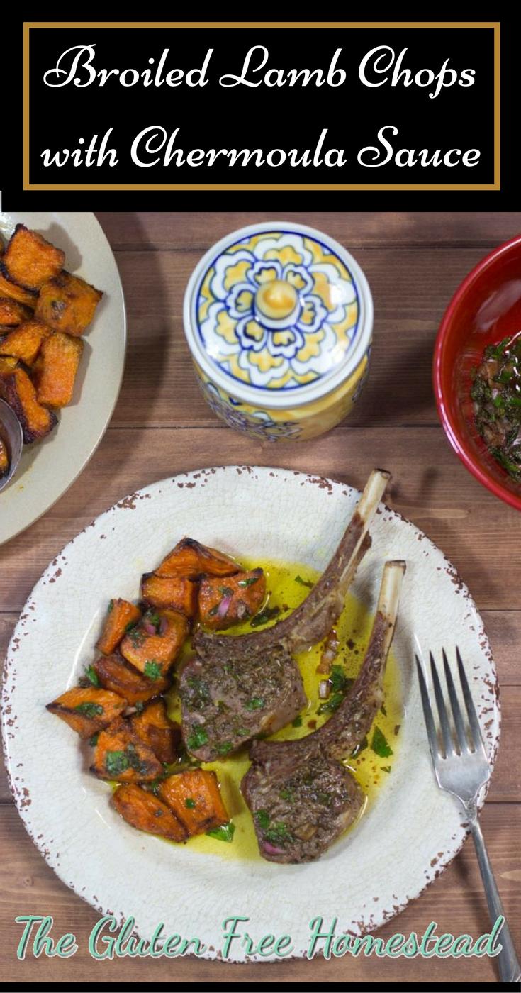 Healthy broiled lamb chops | Chermoula sauce | paleo recipe | gluten free recipe | Moroccan cuisine |