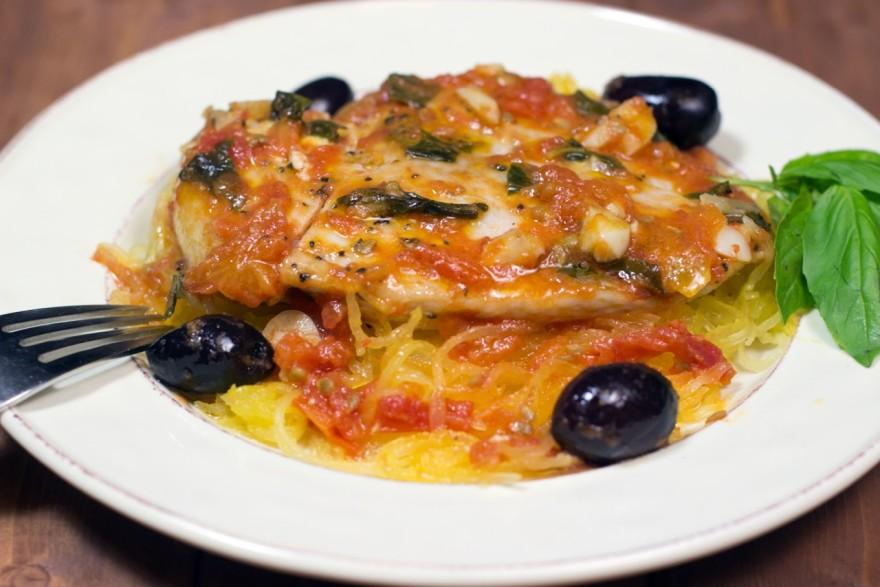 Chicken, spaghetti squash, gluten free, paleo