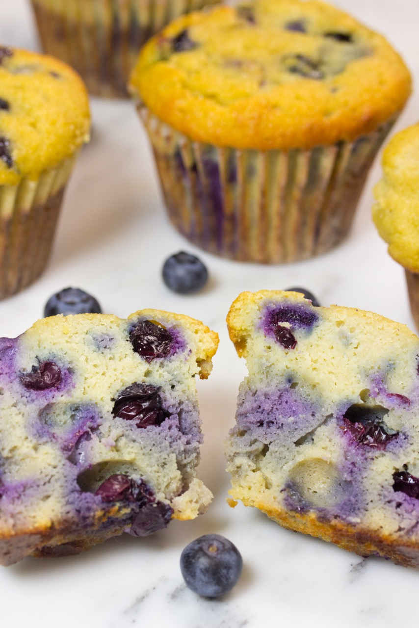 Grain-free, Blueberry Muffins, gluten free muffin, paleo muffin, coconut flour, organic berries