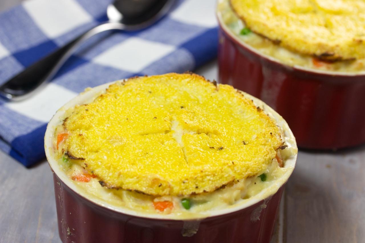 Gluten Free Chicken Pot Pie With Cauliflower Crust