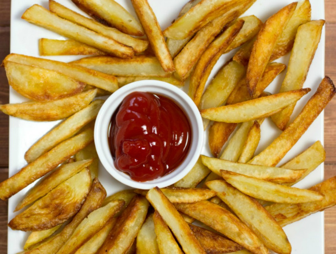 my try at healthier french fries