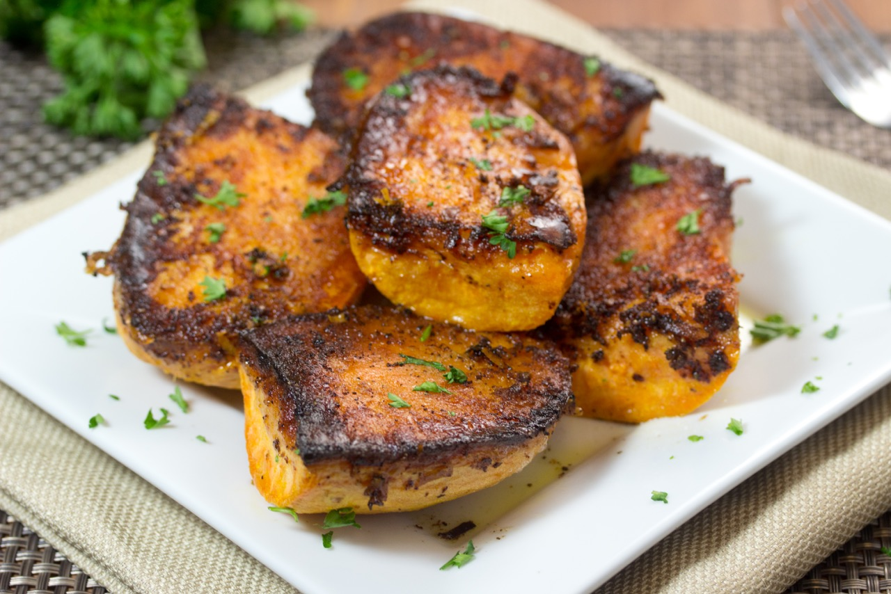 Parmesan Baked Sweet Potatoes