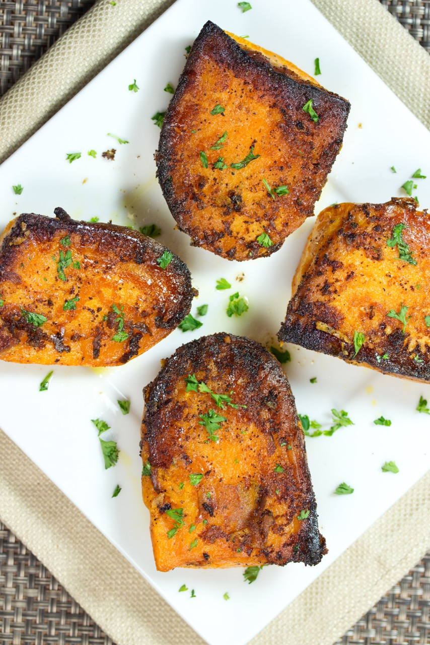 Parmesan Baked Sweet Potatoes | sweet potatoes recipe | gluten free recipe | paleo recipe | nutrition | nutritious recipe