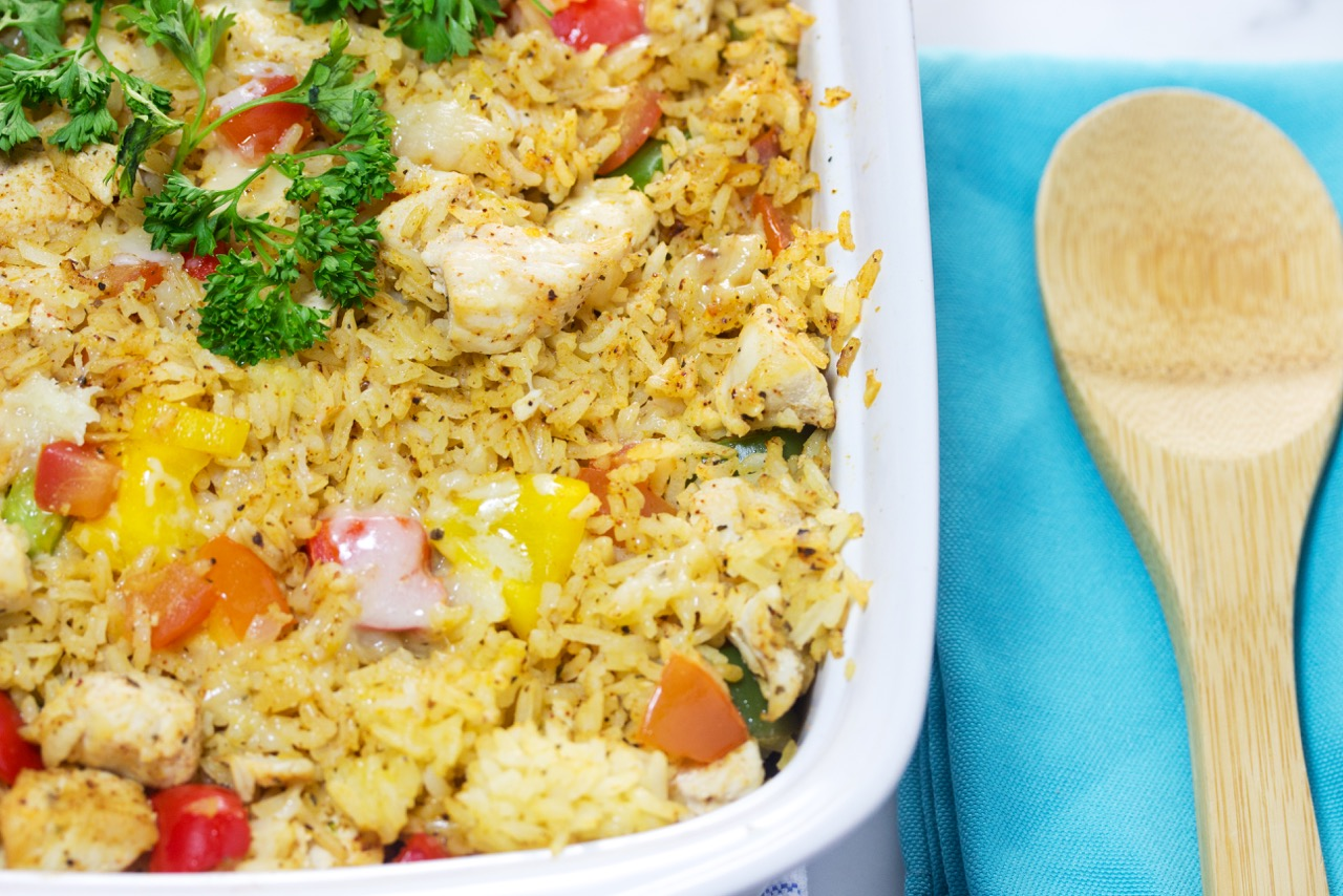 Tex Mex chicken rice casserole