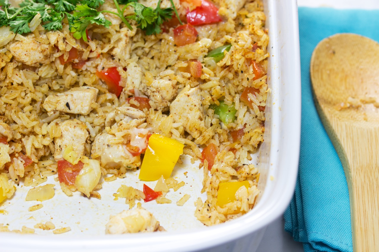 Tex Mex chicken and rice casserole