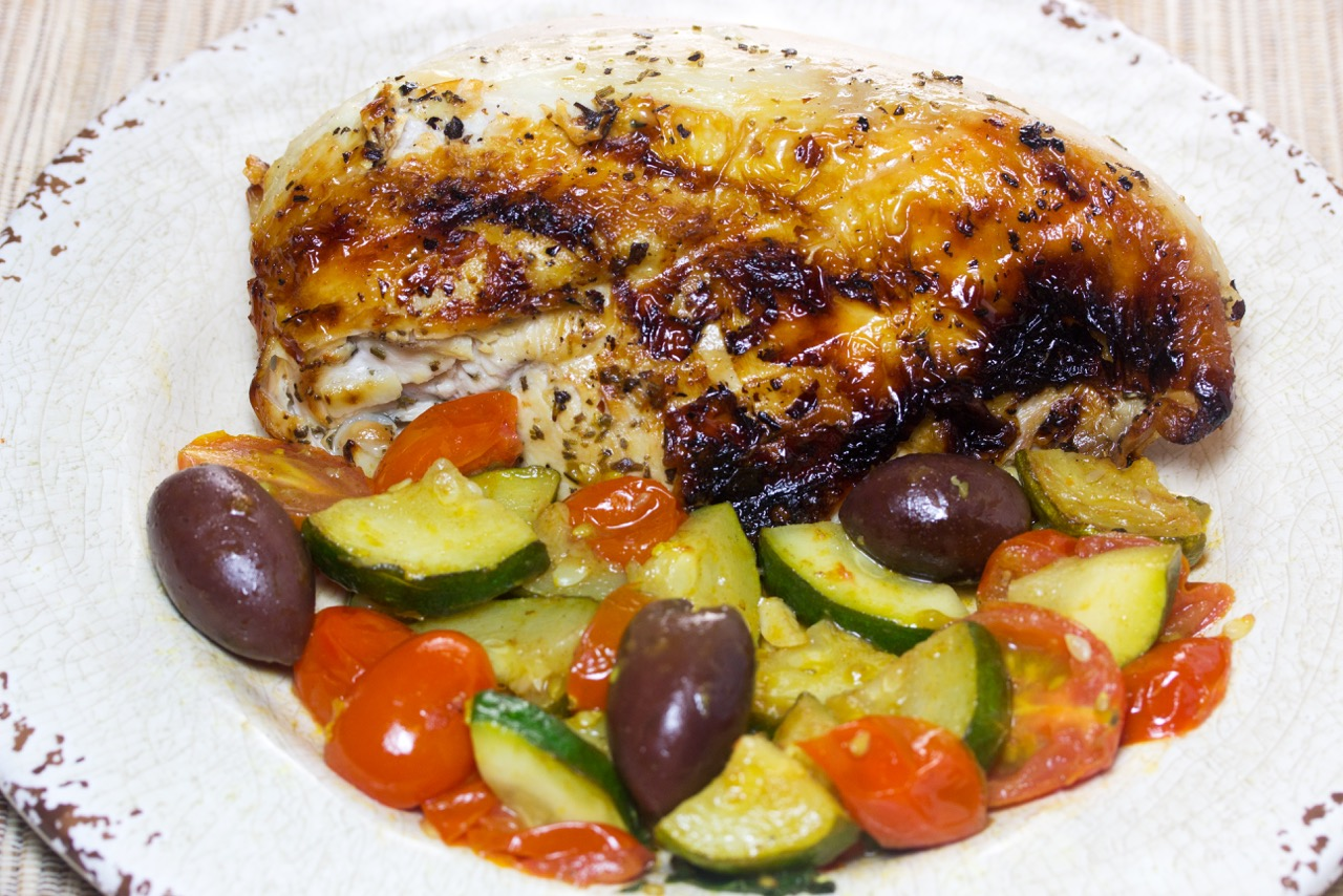 Marinated Chicken Breasts With Zucchini And Tomatoes