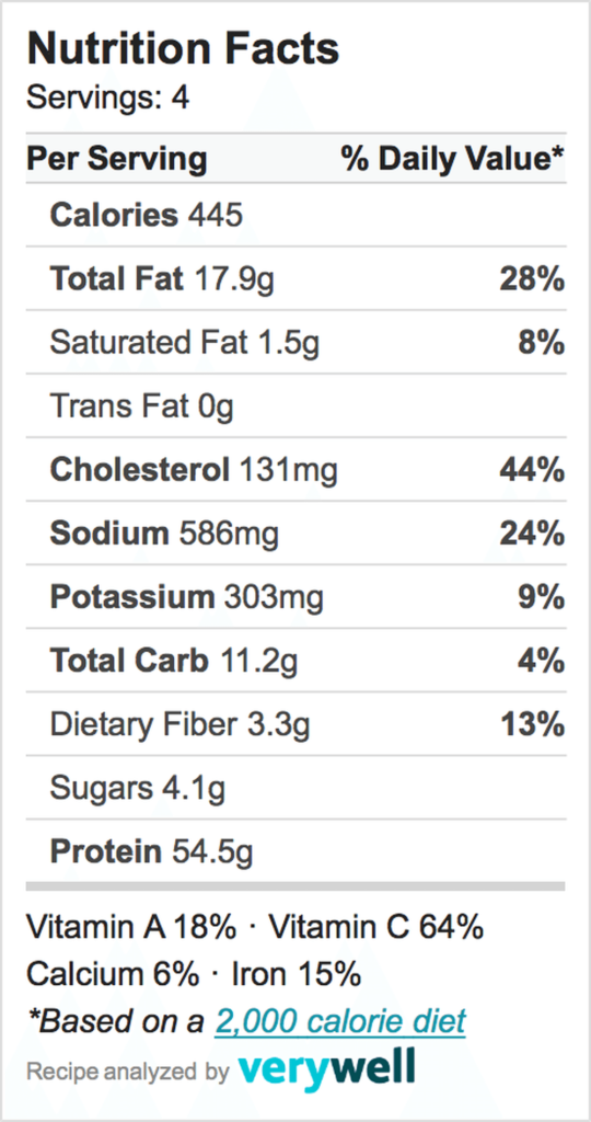 Nutrition-Label-Embed-one pan spanish chicken