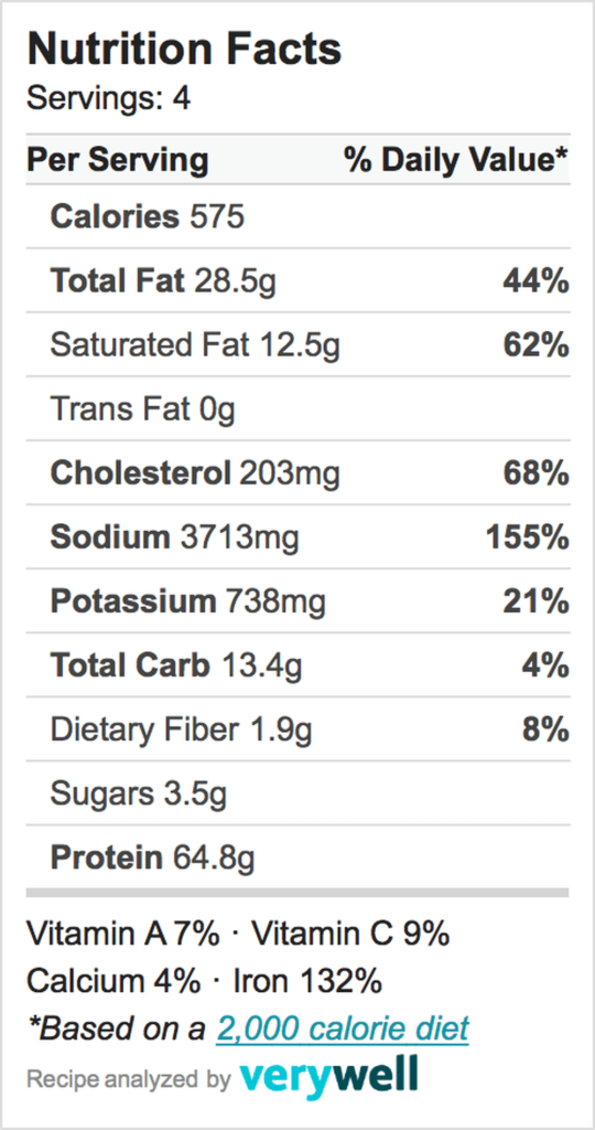 Nutrition-Label-Embed-Salisbury Steak